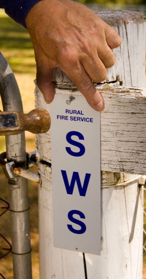 Static Water Supply sign