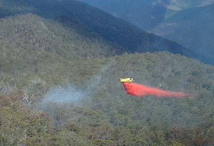 Aviation work over Round Waterhole fire