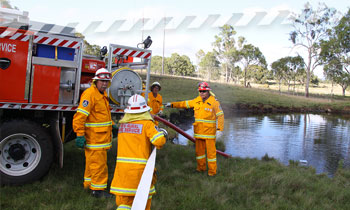 NSW RFS volunteers training