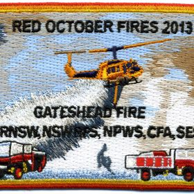 2013 - Gateshead 'Red October 2013' patch