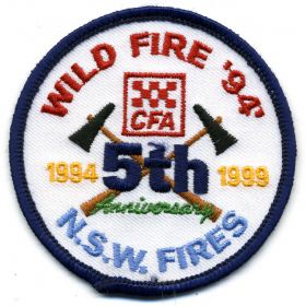 1999 - CFA 5th Anniversary NSW Fires patch