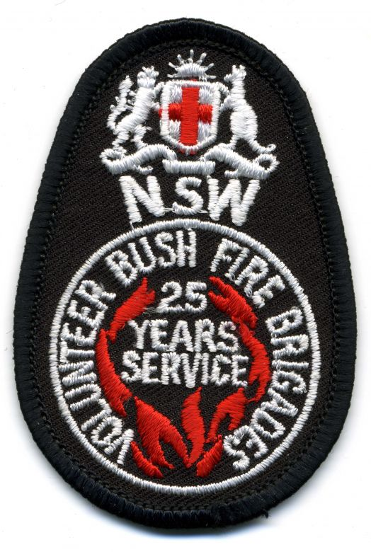1982 - NSW Volunteer Bush Fire Brigades - 25 Years of Service patch