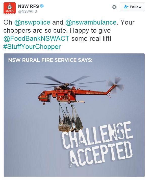Stuff Your Chopper Challenge - twitter screenshot
