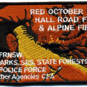 2013 - Hall Road Fire and Alpine Fire 'Red October 2013' patch