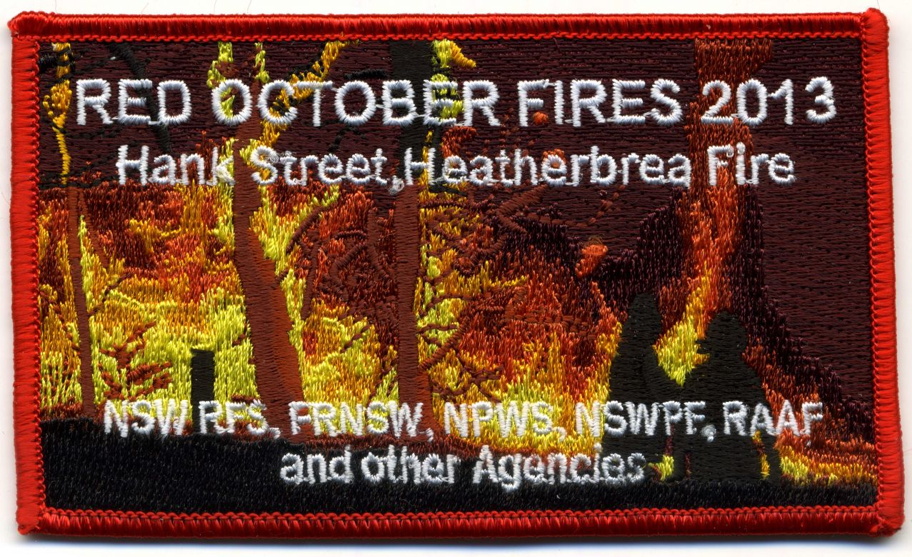 2013 - Hank Street, Heatherbrea 'Red October 2013' patch