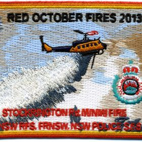 2013 - Stockrington Road, Minmi 'Red October 2013' patch