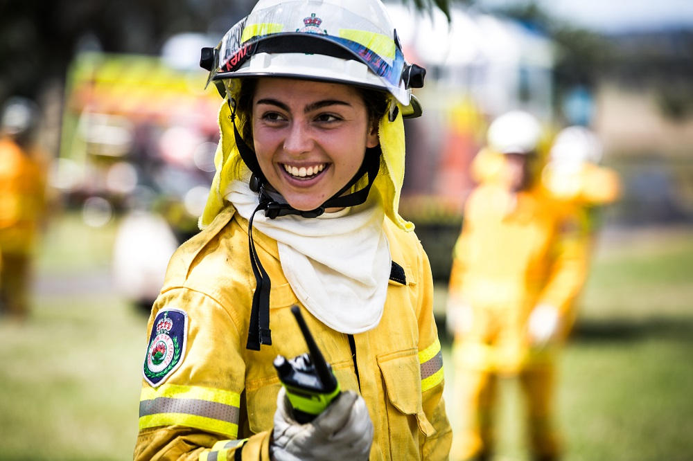 International Women's Day - Firefighter at NSW RFS Region North Exercise