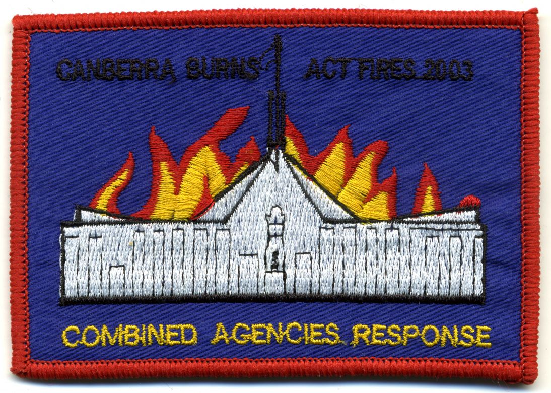 2003 - 'Canberra Burns' ACT Fires patch