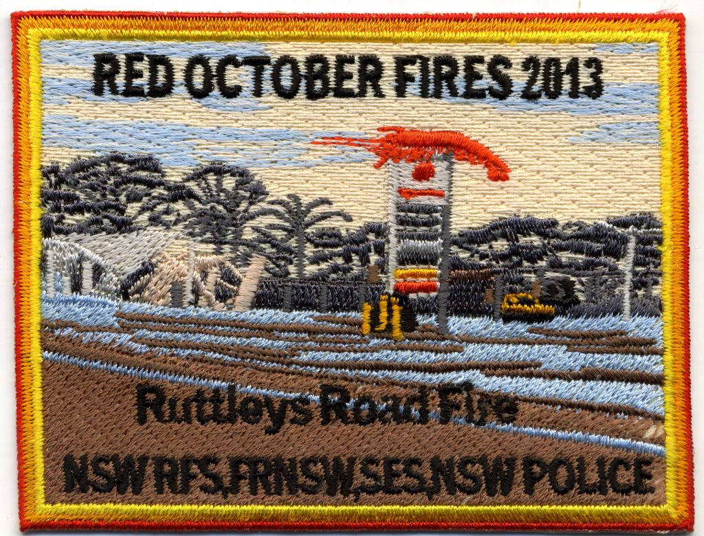 2013 - Ruttleys Road Fire 'Red October 2013' patch