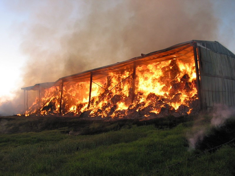 Hayshed Fire