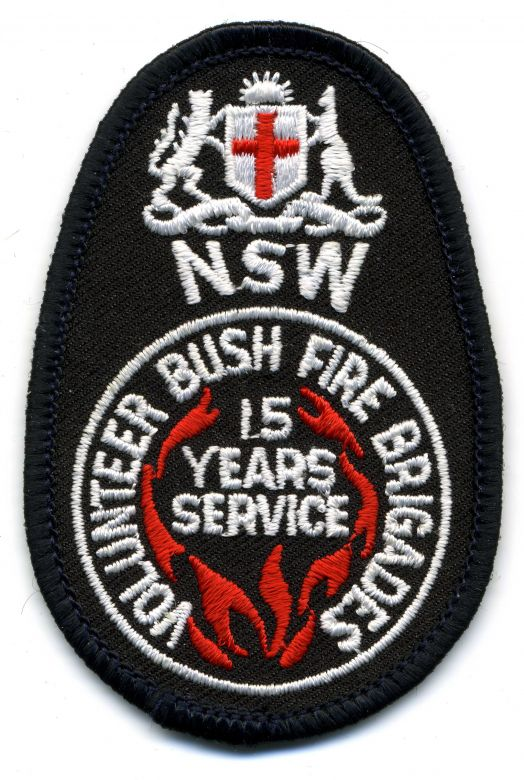 1982 - NSW Volunteer Bush Fire Brigades - 15 Years of Service patch