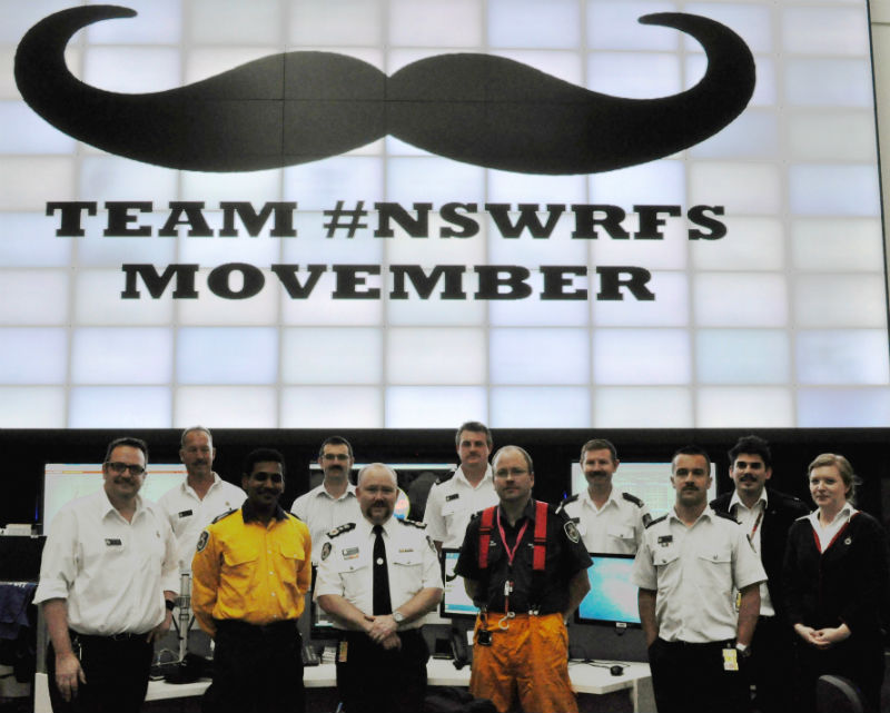 NSW RFS Movember Team 2014