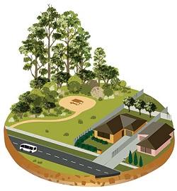 Suburbs meet bush