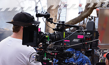 A film shoot
