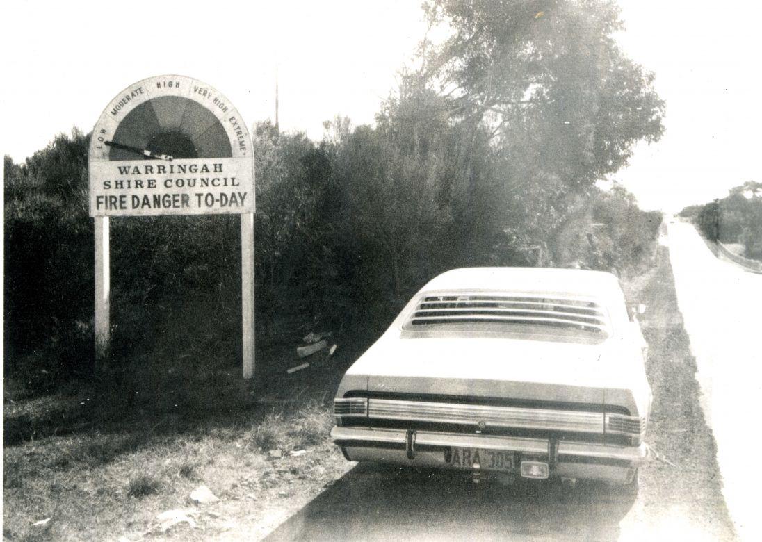 Fire Danger Meter Wakehurst Parkway Warringah, 1973