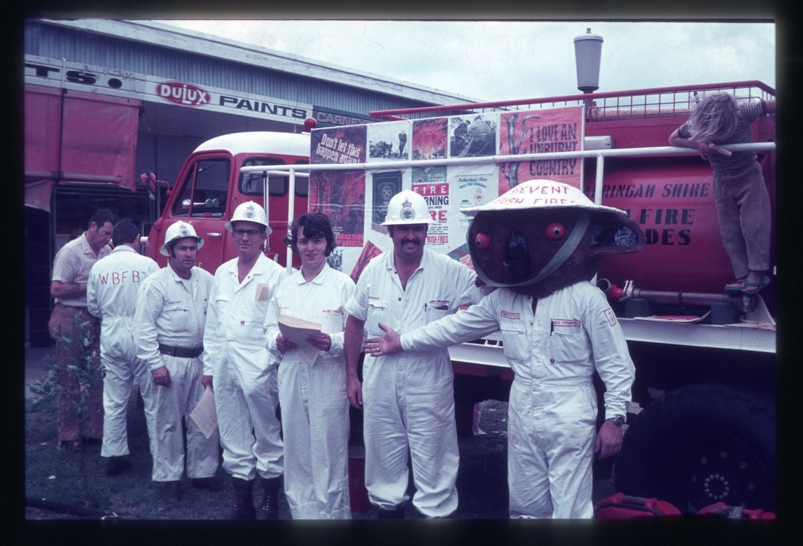 Forestville Brigade members with Smokey, 1973