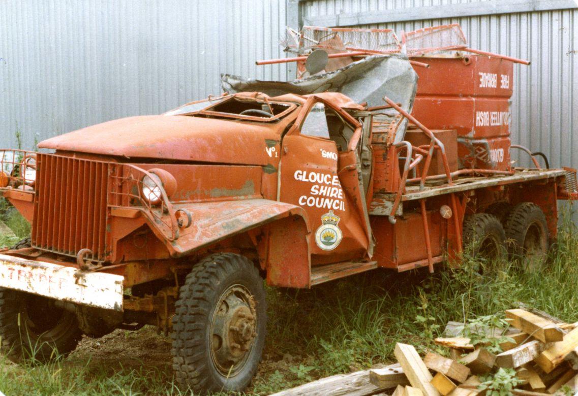 Studebaker Tanker rolled during the Fire Season, 1979