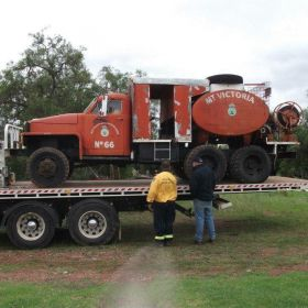 1942 Studebaker Mount Victoria BFB built 1970c with 800 gallons tank old fuel tank, 2014 NSW Heritage