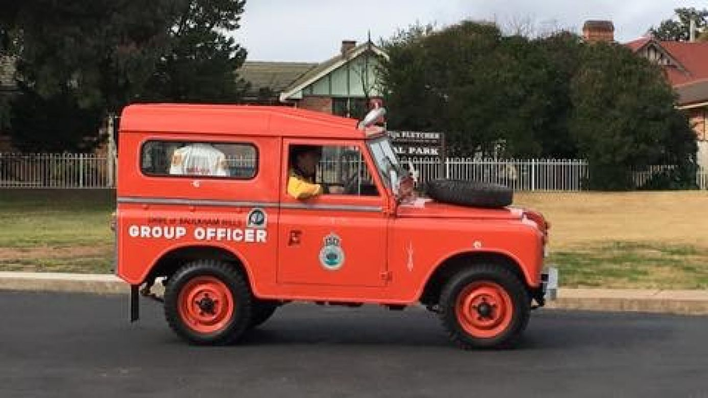 1962 Landrover 2a Snowy River Hydro Scheme, 1970s Group Captain Baulkham Hills, purchased by Don And Sarah Kemble And 2016 Donated to NSW RFS Heritage