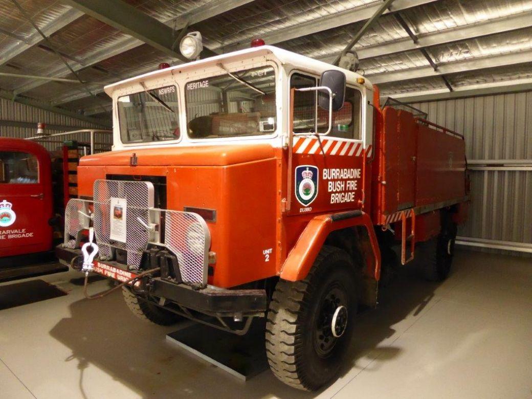 1965 International Mk4 6 Cyl Petrol Defence Force, 1980 Burrabadine BFB Orana, Act Fire Museum, 2015 NSW RFS Heritage