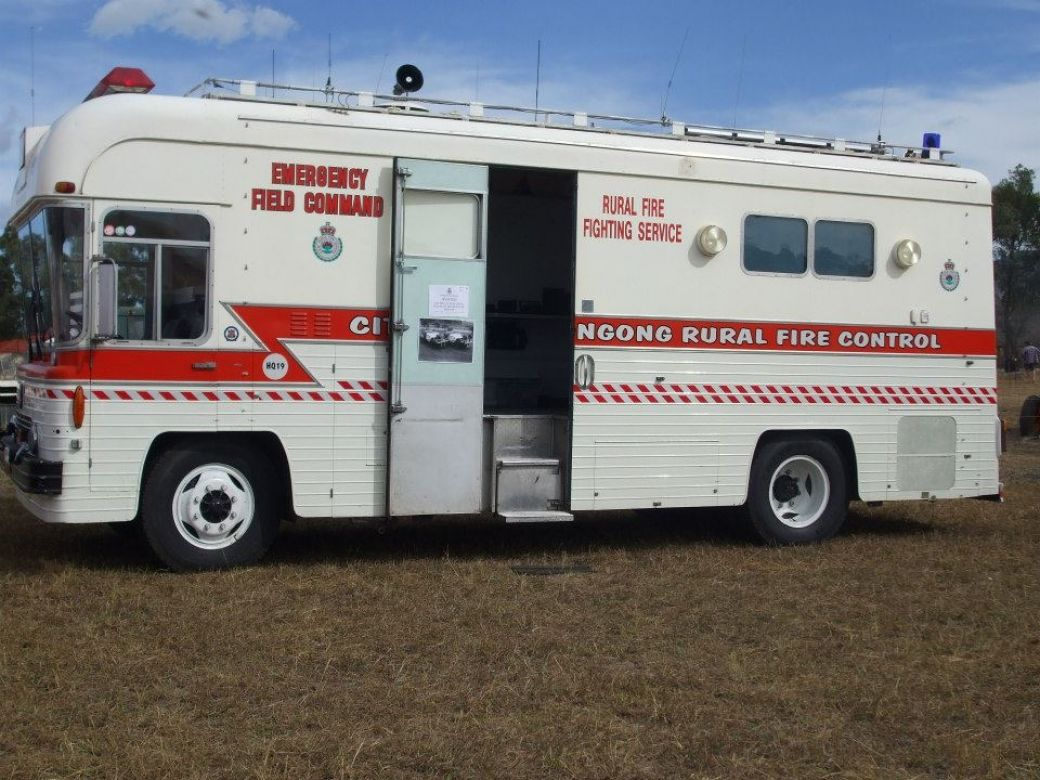 1969 Bedford 6 Cyl Petrol, Converted to 4 Cyl Turbo Diesel, Made for ABC, Purchased by Wollongong, 2010 NSW RFS Heritage