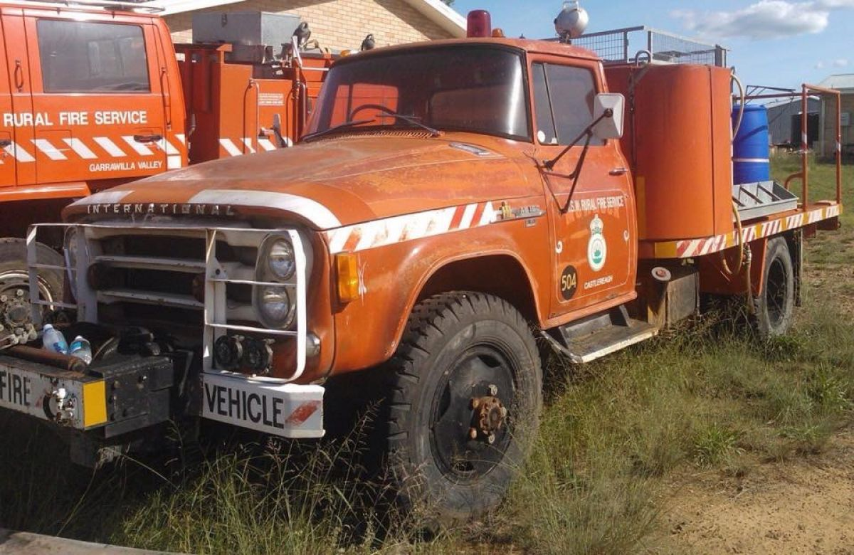 1970 International AB 160 Baulkham Hills, 1985c Mowrock BFB Coonabarabran,- 201 NSW RFS Heritage