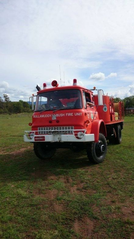 1980 Bedford MFR 8 Cyl Petrol Mullamuddy BFB, 2003 Cainbil Bungaba RFB, 2007 NSW RFS Heritage