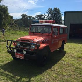 1984 Toyota Troop Carrier Blue Mountains, Lower Lachlan Zone, 2014 NSW RFS Heritage