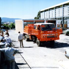 1986 Presentation of Isuzu to Bemboka Brigade, Bega Valley