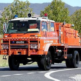 1992 Isuzu JCS with PTO and Rear Diesel Pump Box Hill Nelson BFB, Deep Water BFB, 2010 Angledool BFB NW Zone, 2014 NSW RFS Heritage