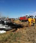 Goldfields Way Trailer Fire