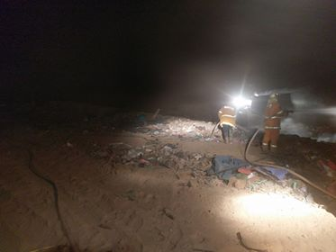 HUB Waste Refuse site fire 1