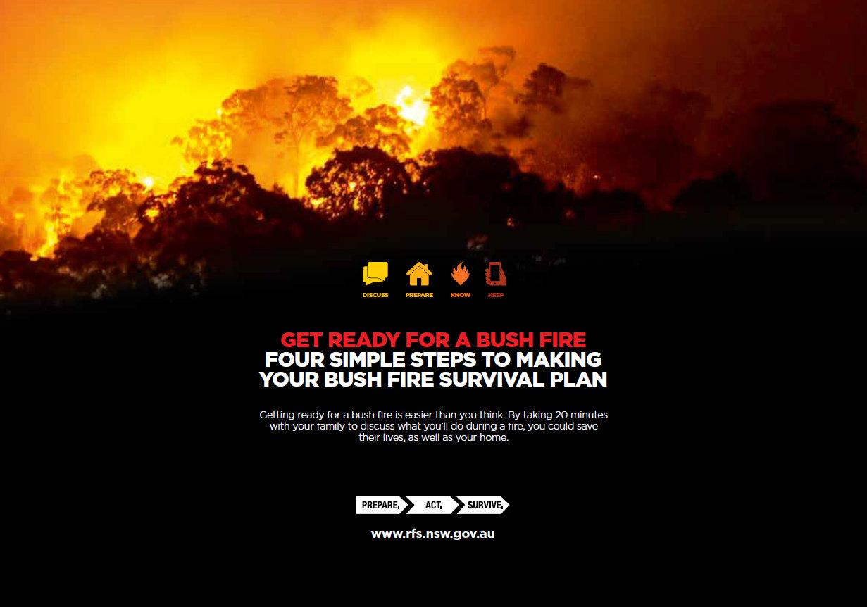 Simple steps for a bush fire survival plan