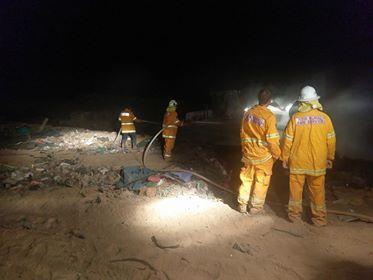 HUB Waste Refuse site fire 2