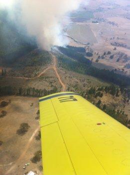 Newbridge Fire from a water bombing aircraft