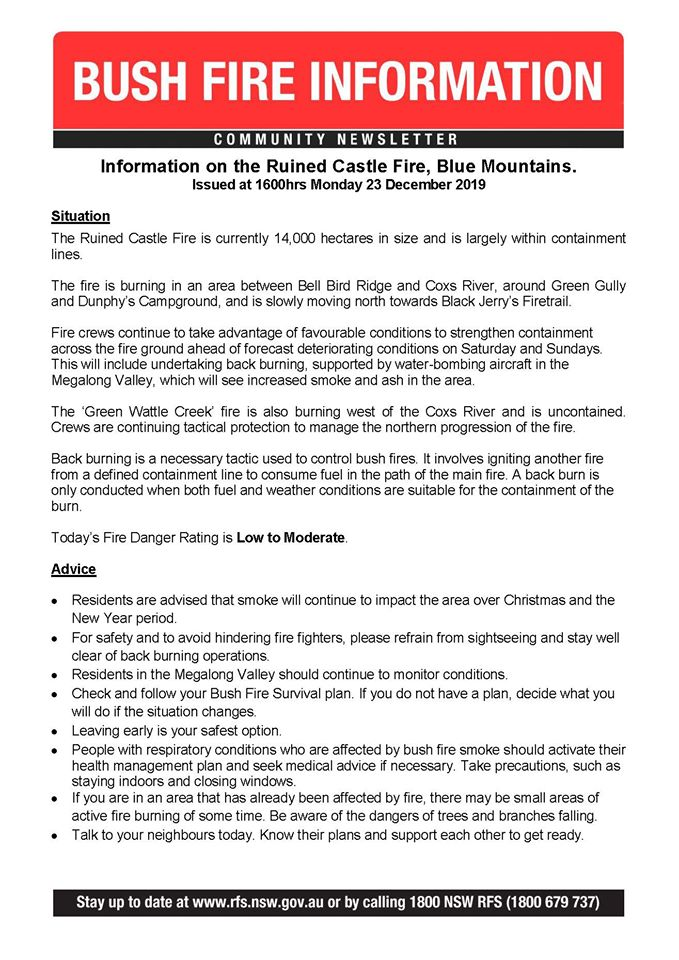 Ruined Castle Fire update 23-12-2019 at 4pm