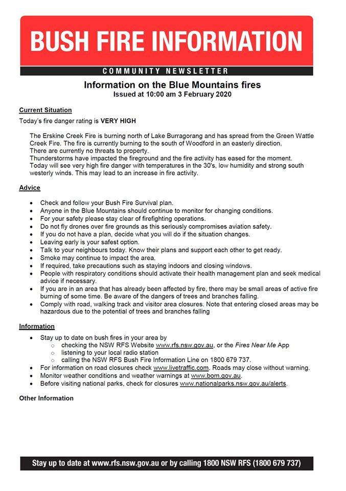 Erskine Creek Fire update 3-2-2020