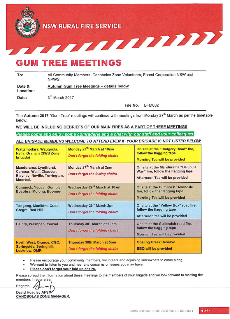 Gum Tree Meetings
