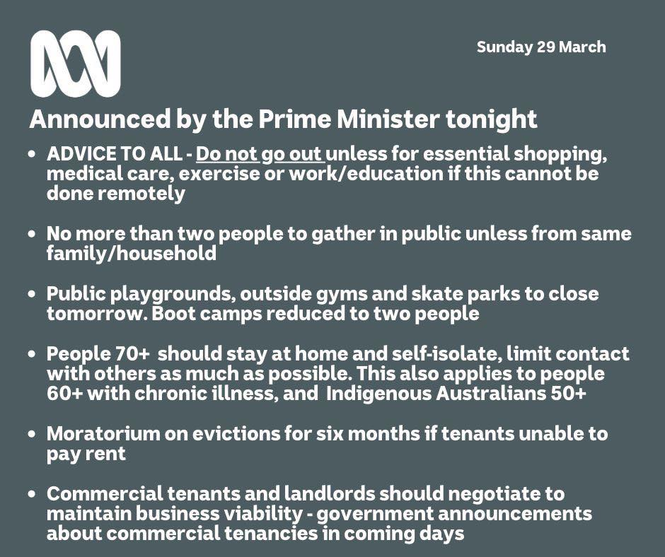 Prime Ministers Announcement