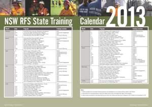 2013 State Training Calendar