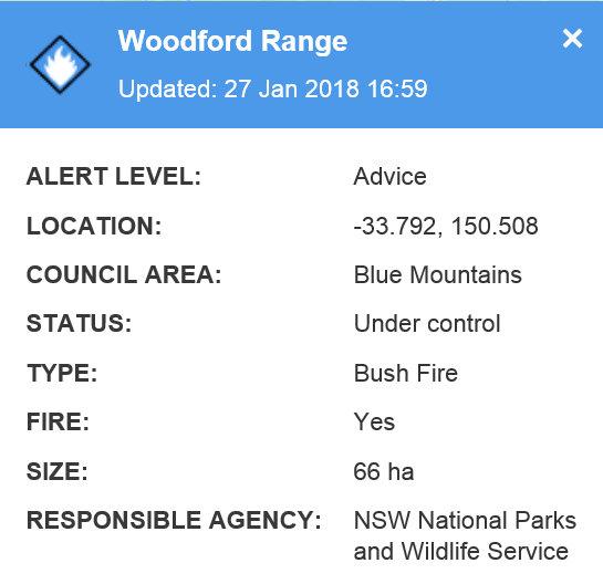 Woodford Range Fire 1