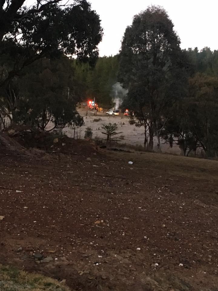 Kinross Forest Road fire