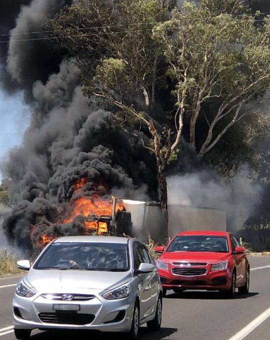 Lachlan Valley Way Truck Fire 5