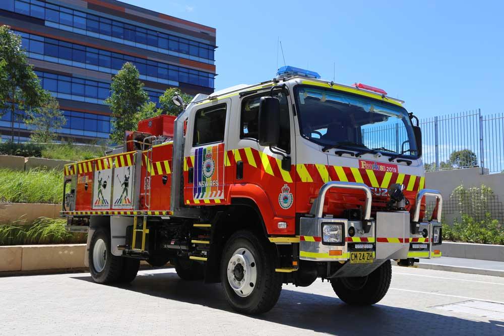 NSW RFS Mardi Gras Truck