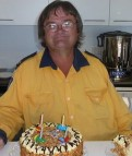 Colin Kearl and his cake