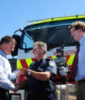Gallacher gifts new fire truck for RFS