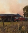 Hay fire continues to smoulder in Peak Hill