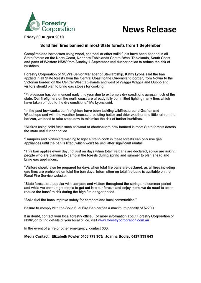 Forestry media release