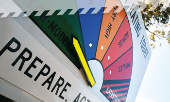 Fire danger ratings give you an indication of the consequences of a fire if one was to start