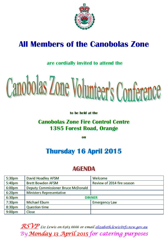 Canobolas Zone Conference